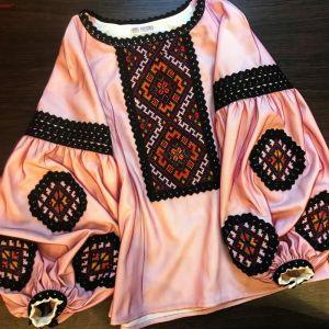 Вышитые рубашки женские Вышивка ручной работы Бордо