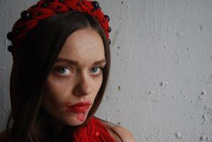 Обручі для волосся ручної роботи Віночок червоний