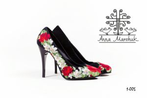 """Footwear Туфлі """"Ніжні троянди"""""""
