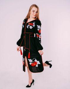 """Жіночі вишиванки ручної роботи  Сукня """"Калина"""""""