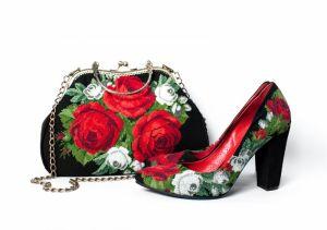 """Обувь ручной работы Комплект """"Роскошные розы"""""""