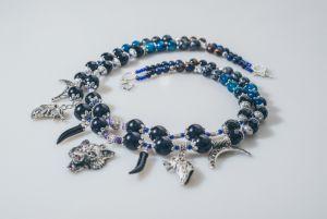 Ожерелье из аметиста Бегущая с волками