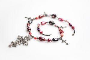 Ожерелье из бисера Янтарное