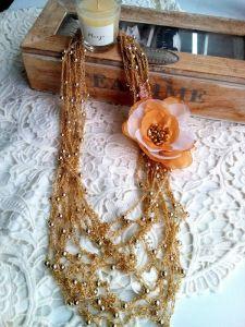 Ожерелья и колье ручной работы Бусы с цветком