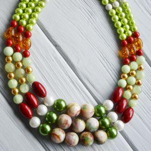 Ожерелье из янатря Цветное
