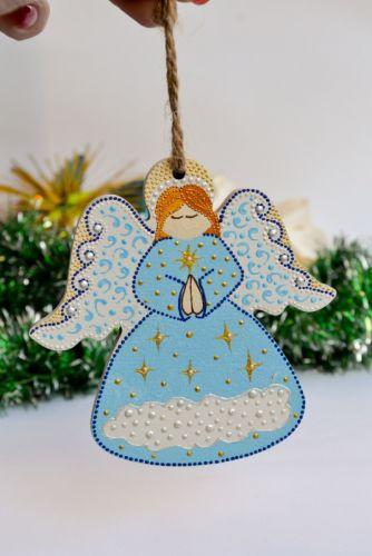 """Рождественский ангелочек """"Голубой"""""""