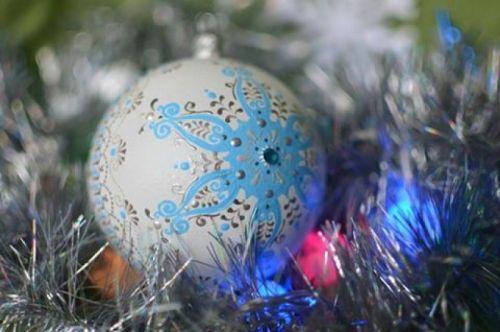 Новогоднее украшение / Авторская роспись