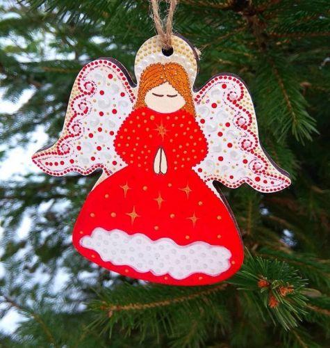 Рождественский ангелочек Красный
