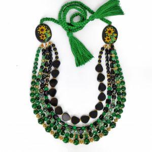 Ожерелье из нефрита Подсолнечное чудо