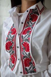 Мацигин Наталья Манишка с вышивкой