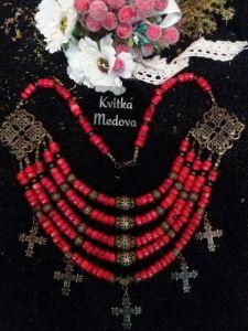 Квітка Медова Коралловое ожерелье из згардой