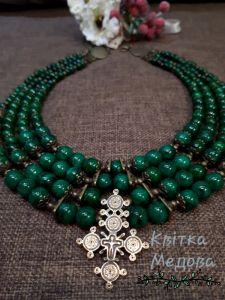Ожерелье из малахита Малахітове