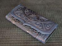 Синий кожаный кошелек Триполье
