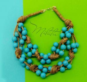 Ожерелье из дерева Эко бусы