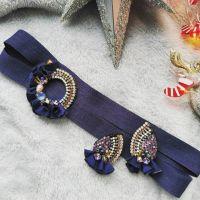 Комплект Flowers серьги и обруч-повязка для волос