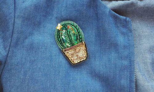 """Брошь """"Bright cactus"""" - изображение 1"""