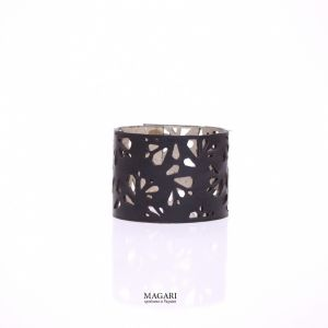 Чорний браслет Браслет із натуральної шкіри