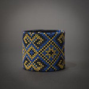 Чёрный браслет Браслет из натуральной кожи