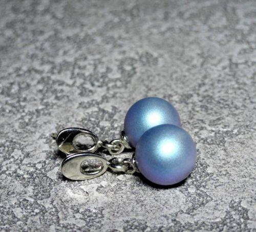 Серебряные серьги с жемчугом Swarovski