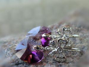 Серьги с камнями сваровски Серьги ROMANTIQUE - кристаллы Сваровски