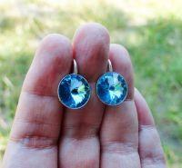 Серьги BLUE - серебро, Сваровски