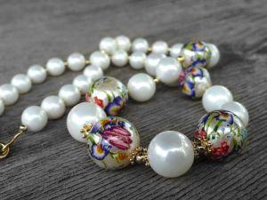 Ожерелье с Теншой и Майоркой в позолоченном серебре