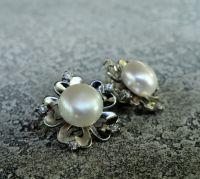 """Серьги """"Pearl Flower"""" - серебро, нат. жемчуг"""