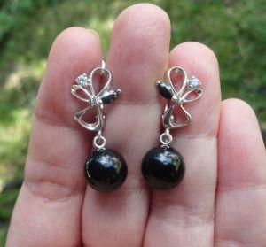 Сережки з перлами Срібні сережки з перлами Swarovski