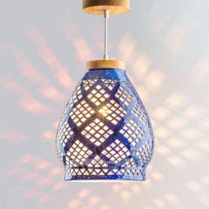 Декор для дома Подвесной светильник люстра Heart cobalt керамика