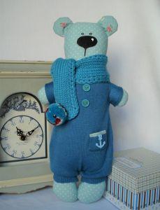 Куклы ручной работы Мишка морячок