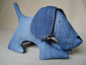 Куклы ручной работы Собака модняка джинсяка