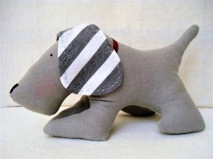 Куклы ручной работы Собака домашняя серая