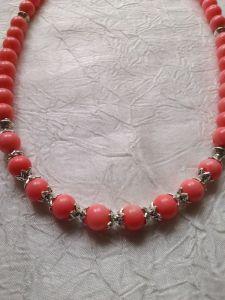 """Ожерелье из коралла """"Розовая нежность"""""""