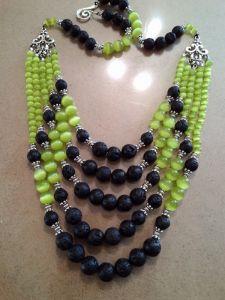 """Beaded necklaces """"Перша трава"""""""