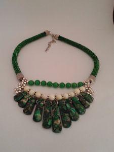"""Ожерелье из варисцита """"Изумруд"""""""