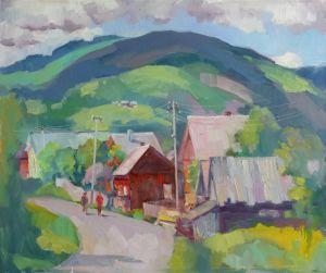Картины маслом Деревня Черная Тиса