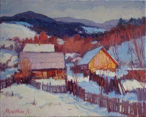 Нарисованные картины Зима