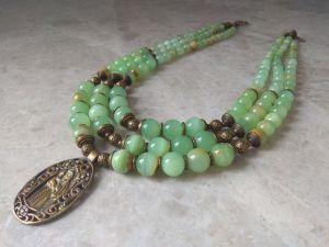 Ожерелье из оникса Корали Оникс Почаевская Богородица