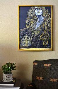 Нарисованные картины Золотая