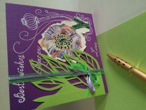Разное Рукотворная поздравительная открытка