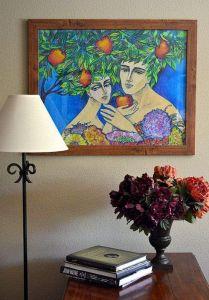 Нарисованные картины Эдемский сад