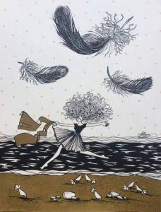 """Нарисованные картины Серия """"Птицы"""". Композиция #10"""