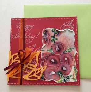 Разное Рукотворная открытка  на День рождения