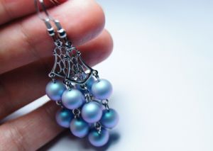 """Блакитні сережки Сережки """"Ніжність Афродіти"""""""