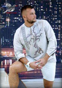 """Embroidered apparel - Men Сорочка з вишивкою """"Срібний сокіл"""""""
