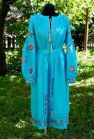 """Современное платье-вышиванка """"Небо над степью"""""""