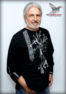 """Embroidered apparel - Men Дизайнерська вишиванка """"Срібний сокіл"""""""