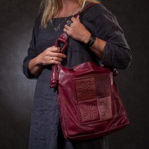 Женские сумки ручной работы Женская кожаная сумка в этническом стиле «Лая»
