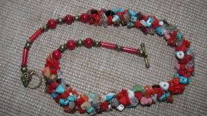 Ожерелье из коралла Коралловый жгут