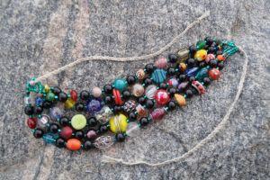Ожерелье из янатря Красочное